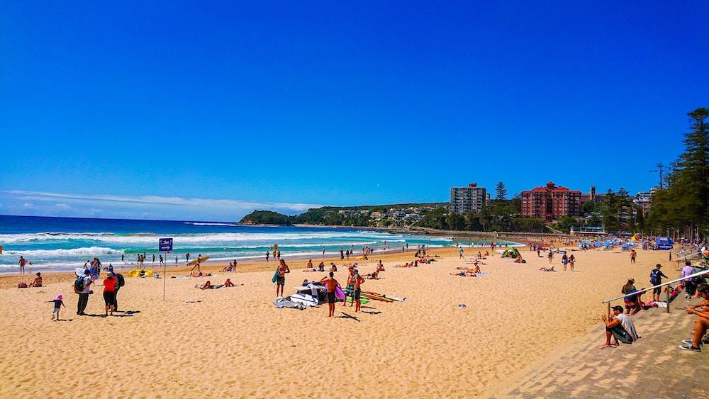 manly beach sydney crowded beach