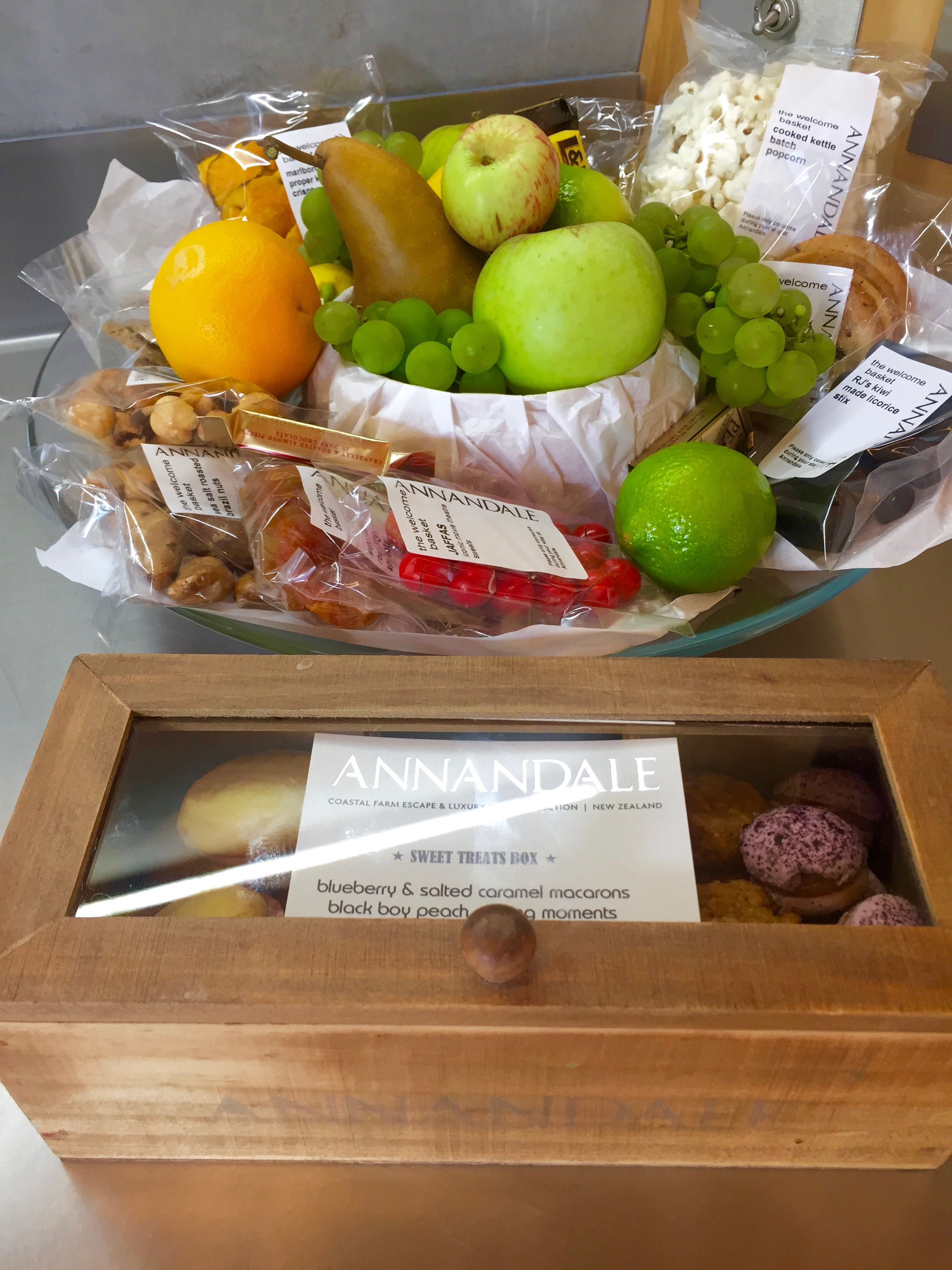 annandale welcome basket on the south island of new zealand