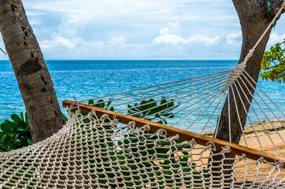 hammock in Fiji on the beach