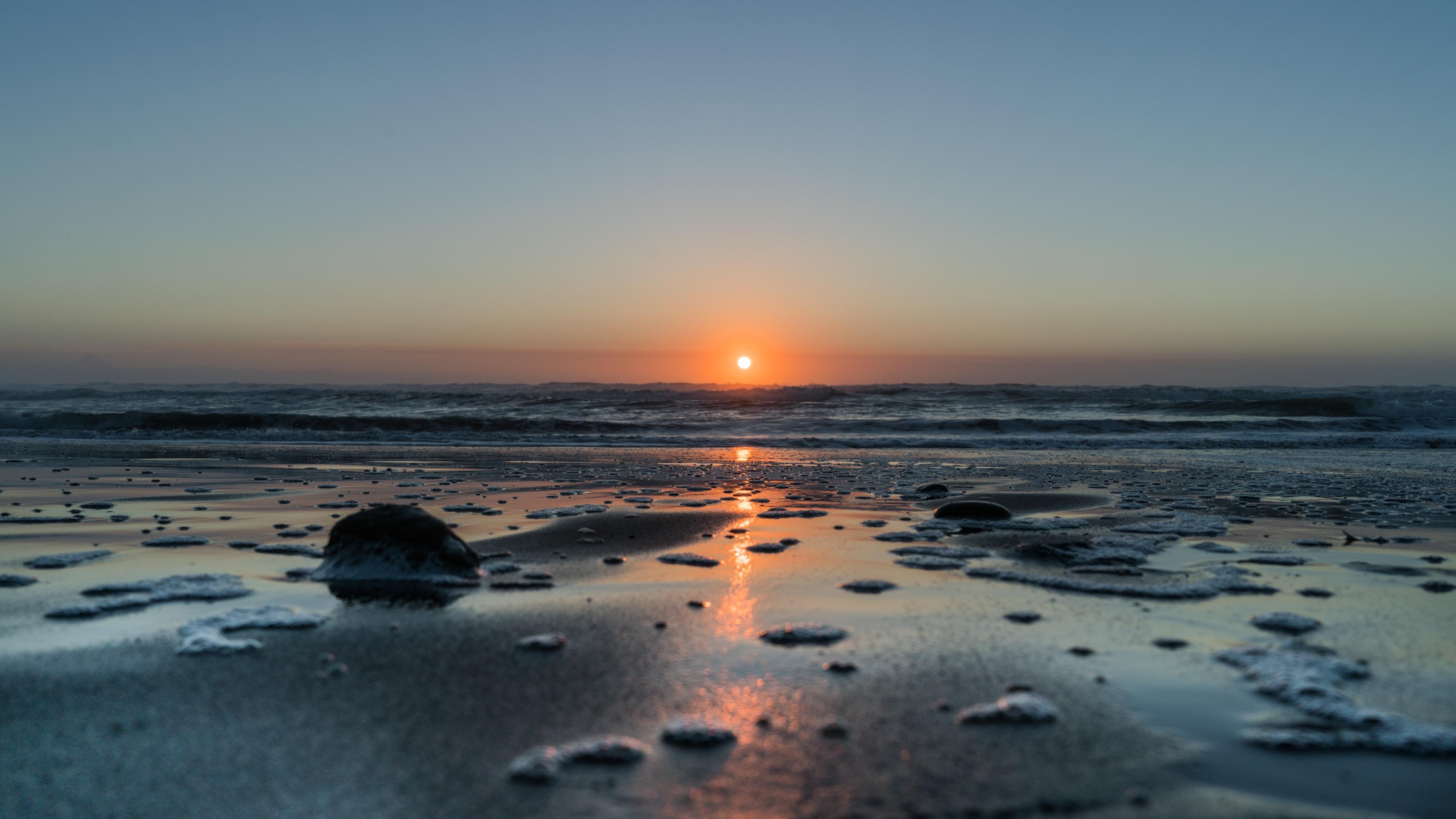 summer on the beach in Taranaki, New Plymouth, New Zealand